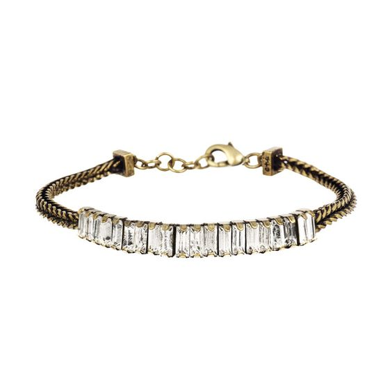 Crystal Chain Bracelet Chloe + Isabel $34 gifts for friends or family