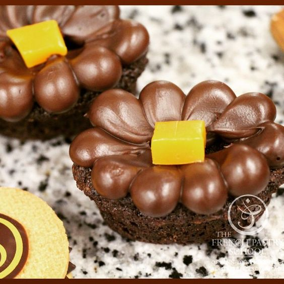 """Mini Chocolate Cakes #frenchpastryschool #pastryschool #petitfours #chocolate #chicago"""