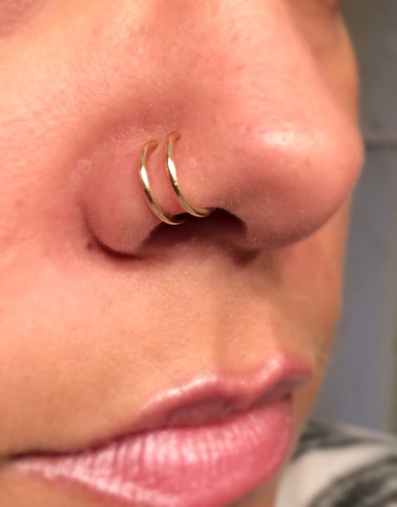 Saskia Diez Faux Nose Ring in Rose Gold | The Dreslyn | s ...