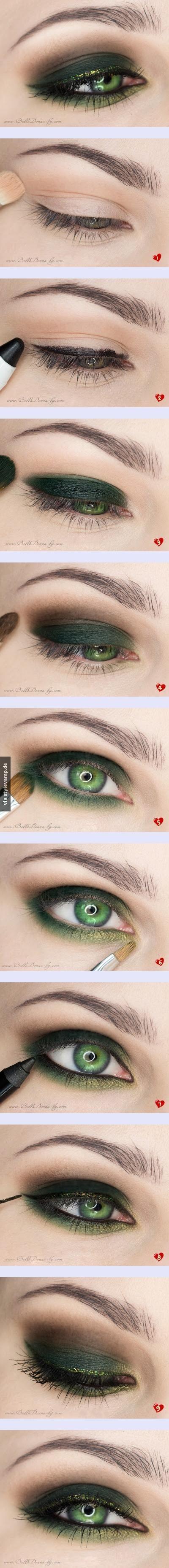 Tolles Augenmake-Up besonders für grüne Augen