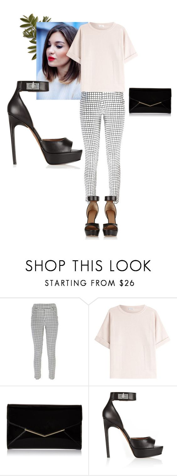"""""""Inverted triangle styling classic"""" by ama212 ❤ liked on Polyvore featuring Boohoo, Brunello Cucinelli, Furla and Givenchy"""