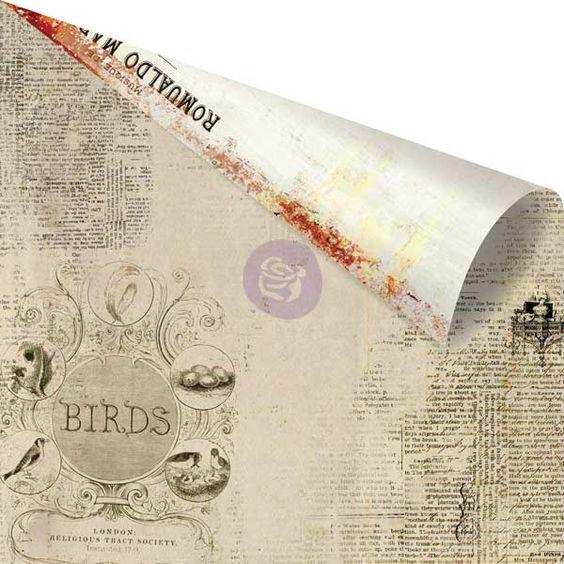 "Prima - Vintage Emporium Collection - 12""x12"" Cardstock - Florence,$0.79"