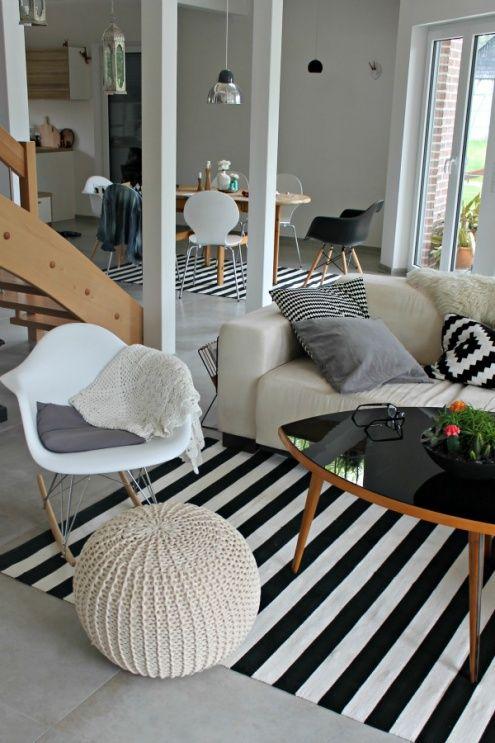 Via So Leb Ich  Eames Rocker and Daw Chair  Black and