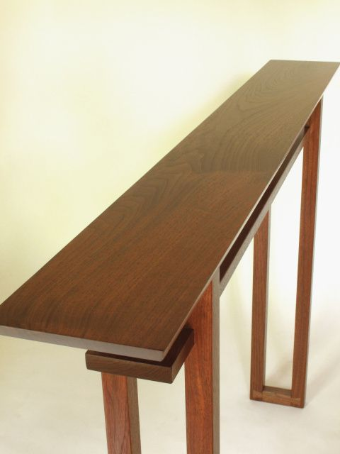 Very Narrow Classic Console Table Handmade Wood Furniture Narrow Console Table Very Narrow Console Table