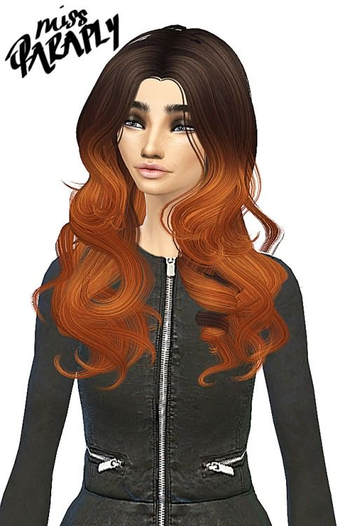 Miss Paraply Hair and leather jacket • Sims 4 Downloads