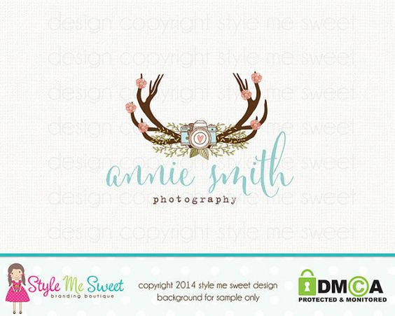 Custom Premade Photography Logo  Camera by stylemesweetdesign