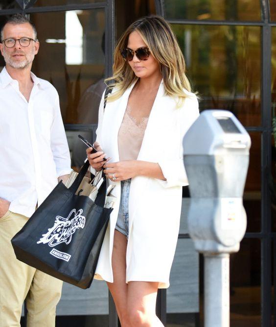 CHRISSY TEIGEN Leaves Meche Salon in Beverly Hills   actress Chrissy Teigen