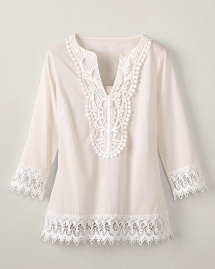 crochet camiseta blanca