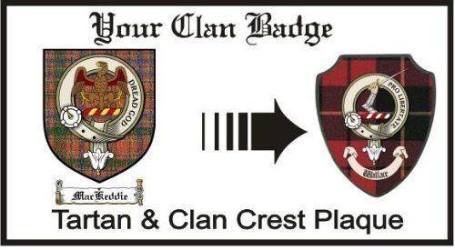 Mackeddie Clan Munro Clan Badge Plaque . $29.99