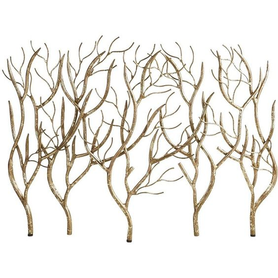 Willow Fireplace Screen ($150) ❤ liked on Polyvore featuring home