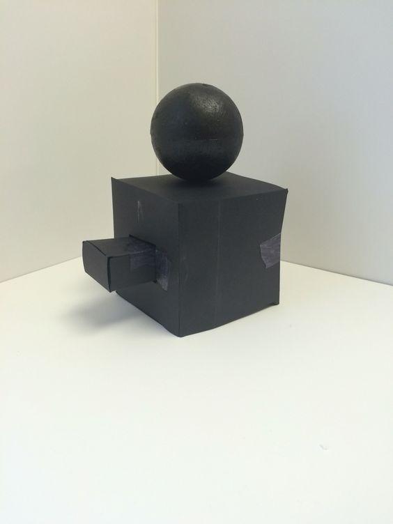 3 part black cardboard design