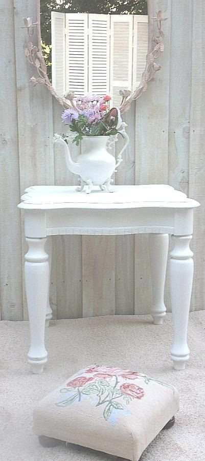 BLOW OUT SALE Shabby Cottage Chic end tables or Nightstands Cottage White or Custom Paint 4 U