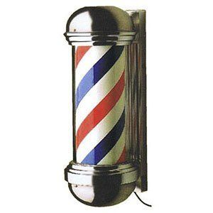 """PIBBS Original Barber Pole (Model: 148) by Pibbs. Save 43 Off!. $215.00. Professional Features:-Red, white and blue barber pole -9\"""" dia pole -12\"""" deep from wall with mounting bracket -22\"""" high -110 V electric"""