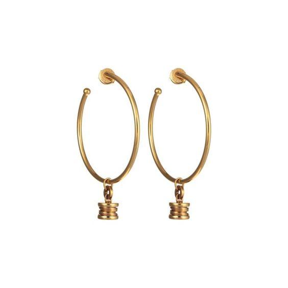 Bulgari Yellow Gold Bzero1 Charm Earrings featured in vente-privee.com