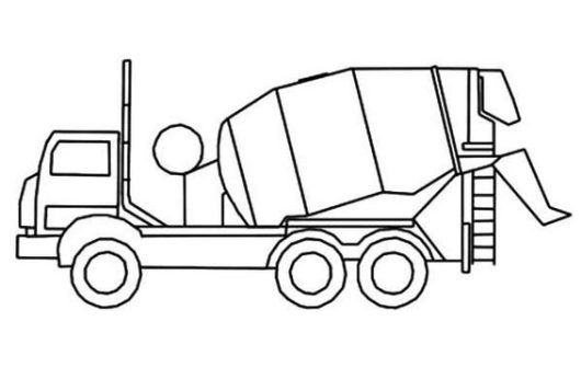 Cement Truck Coloring Sheet Outline Truck Coloring Pages Coloring Sheets Cement Truck