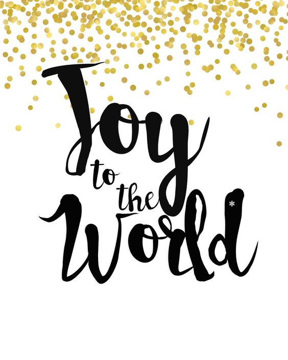 Mimi Lee Printables & More: Joy to the World- black and gold- FREE PRINTABLE: