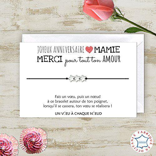Id/ée cadeau original Carte de Voeux Parrain Bracelet porte-bonheur Fabriqu/é en France