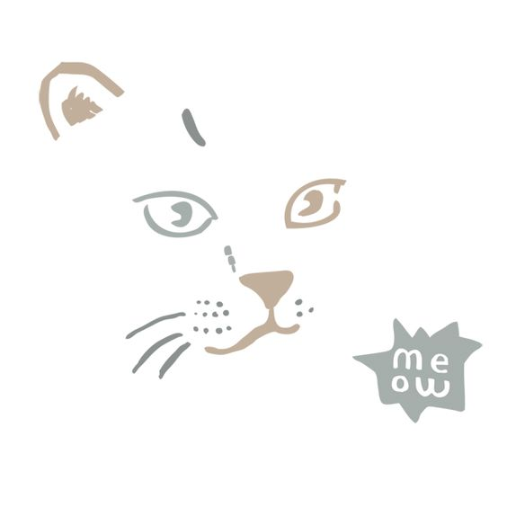 """Sticker Chat """"Meow"""""""