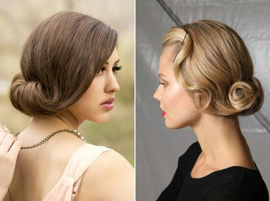 Awe Inspiring Hairstyle For Long Hair Vintage Inspired And Wedding On Pinterest Short Hairstyles For Black Women Fulllsitofus
