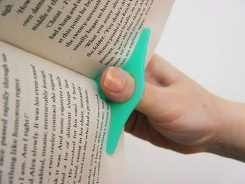 to hold open your book pages.