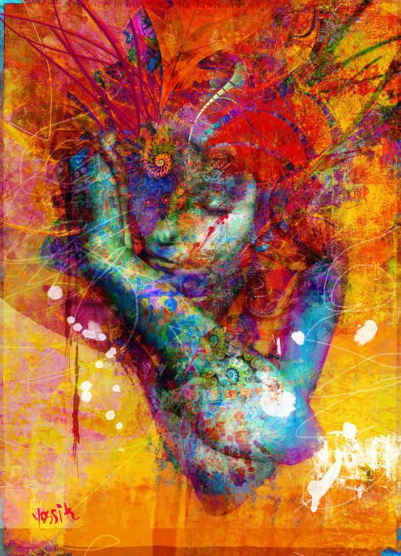 Yossi kotler art-miss sunshine, érotique, nu, portrait. giclée embellie