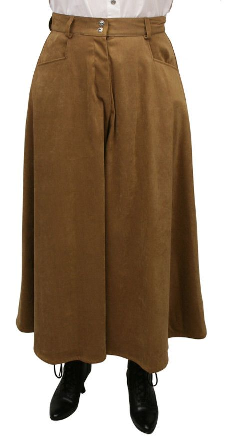 Sueded Riding Pants - Tan