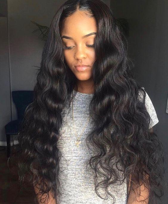 Malaysian Loose Wave 4 Bundles Human Hair With Lace Closure 4 4