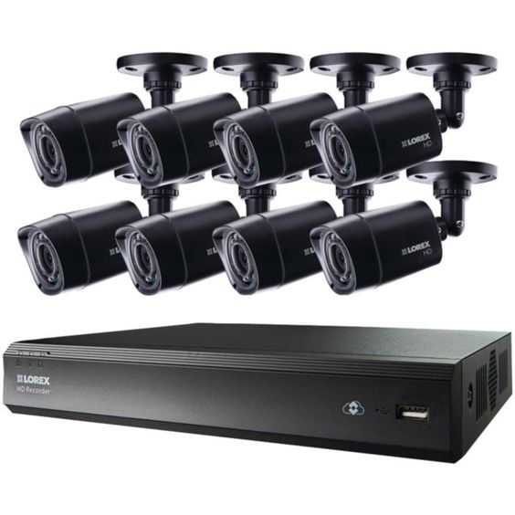 LOREX LHV00161TC8B 16-Channel MPX HD 1TB DVR with 8 720p Camera