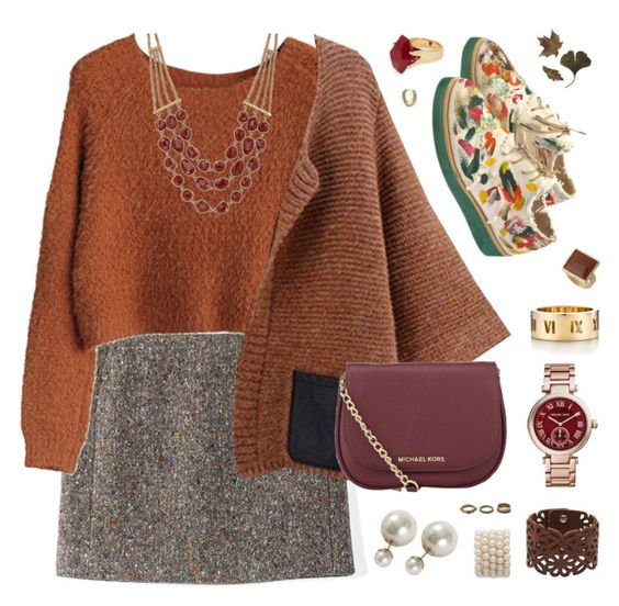 """""""Autumn Wishes"""" by belenloperfido ❤ liked on Polyvore featuring Acne Studios, Michael Kors, Anouki, MICHAEL Michael Kors, Tiffany & Co., Lucky Brand, Lola Rose, Dorothy Perkins, LIU•JO and Forever 21"""