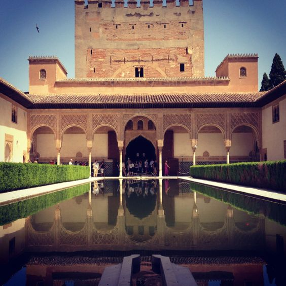 Other side of the reflecting pool in el Patio de Arrayanes