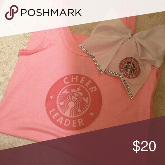 CHEER TANK AND BOW NEW SIZE SMALL CHEER TANK AND BOW Tops Tank Tops