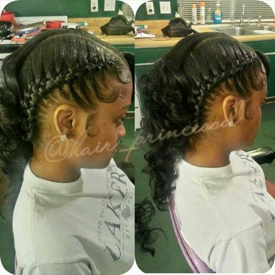 Remarkable Under Braids Quick Weave And Braids On Pinterest Short Hairstyles Gunalazisus