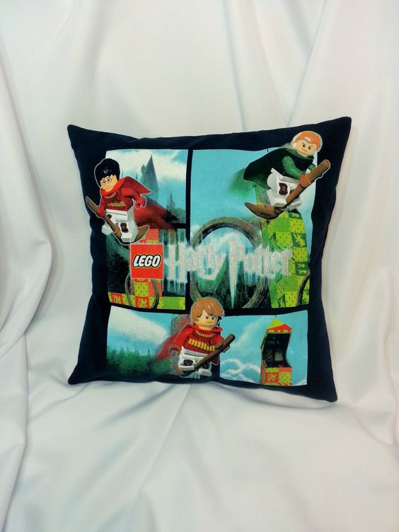 Lego Throw Pillow And Blanket Set : Lego Harry Potter cotton t-shirt made into a decorative pillow cover Lego, T shirts and ...