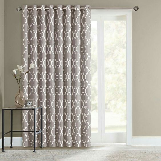 Door curtains for the home pinterest sliding door curtains