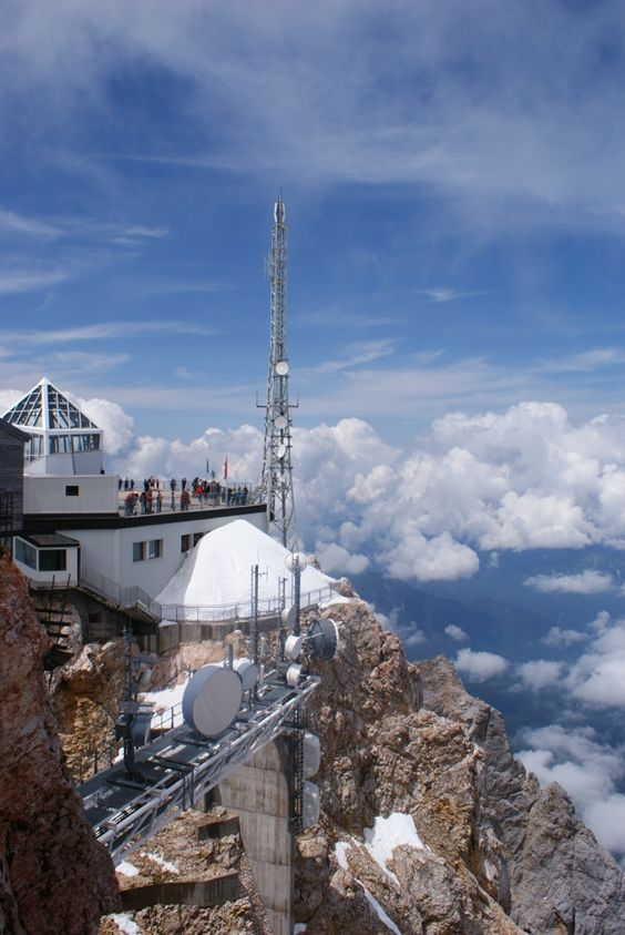 Zugspitze (highest mountain in Germany) On the viewing terrace you can enjoy the view of 4 countries and 400 peaks. Garmisch-Partenkirchen - Germany