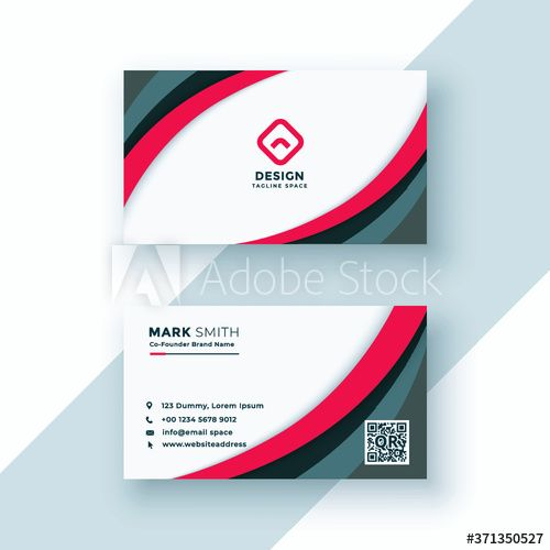 Modern Professional Business Card Template Simple Business Card Abstract Business Card Design In 2020 Vector Business Card Professional Business Cards Business Cards