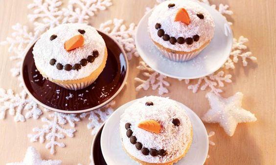 Schneemann-Muffins - Kokos-Muffins, die einem die kalten Wintertage versüssen.