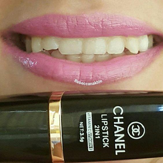 هذا #أحمر_الشفاه اللي استعملته اليوم  Showing my #lips of the day using Fake Chanel Lipstick (with no name or number)