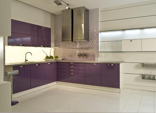 Design Keuken Sale : Design keuken met paarse keukenkasten