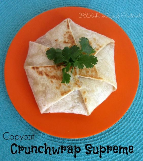 I assure you, this one's BETTER than Taco Bell's Crunchwrap Supreme.  Don't believe me? Try this at home. :)