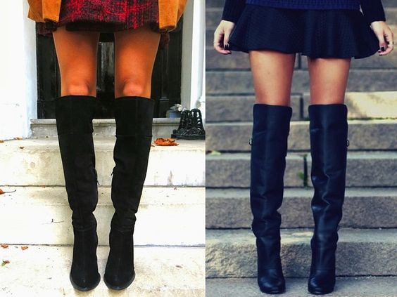 Knee High black boots // www.bumpkinbetty.com // #fashion #inspiration #streetstyle