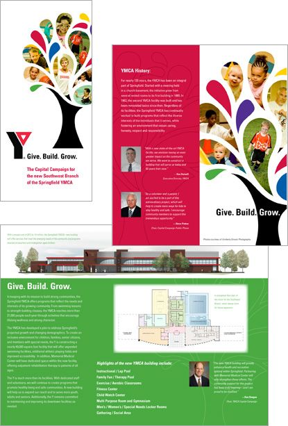 Springfield Ymca Capital Campaign Brochure Design  Capital