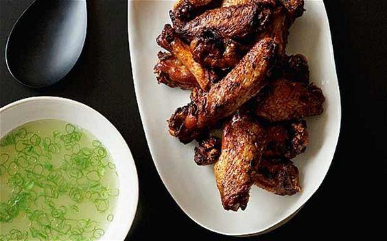 Crispy Chicken Wings and Chive Broth by Yuki Sugiura