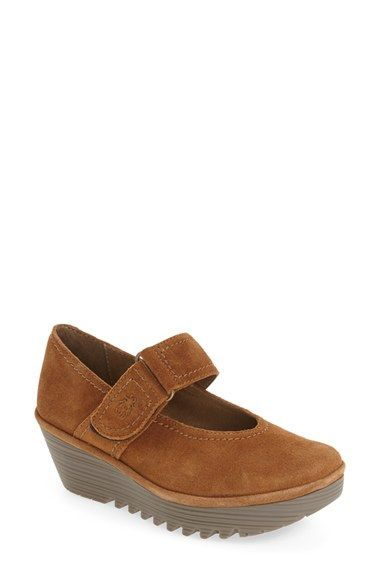 Fly London | Brown 'raji' Mary Jane Platform Wedge | Lyst