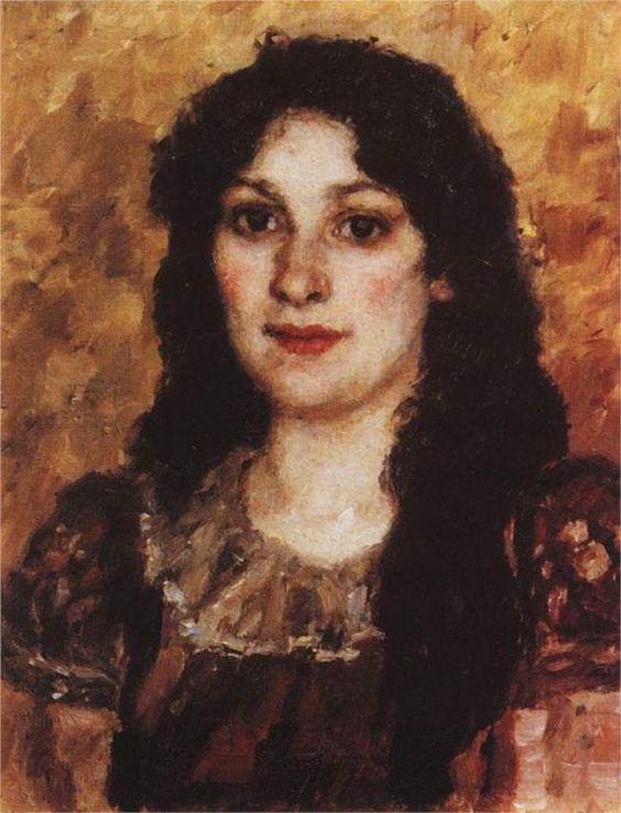 Vasily Surikov - Portrait of E.A. Surikova: