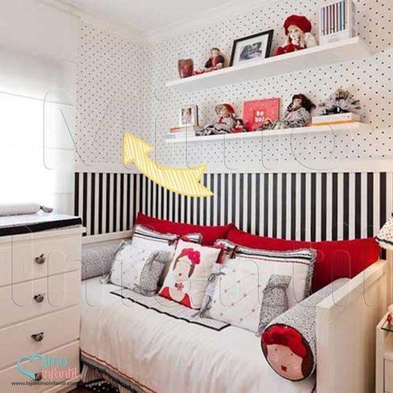 Papel de Paredes para decoração de quarto de bebê e infantil  811035, REF811035, Poá, preto, branco | SP, BH, MG, RJ, DF