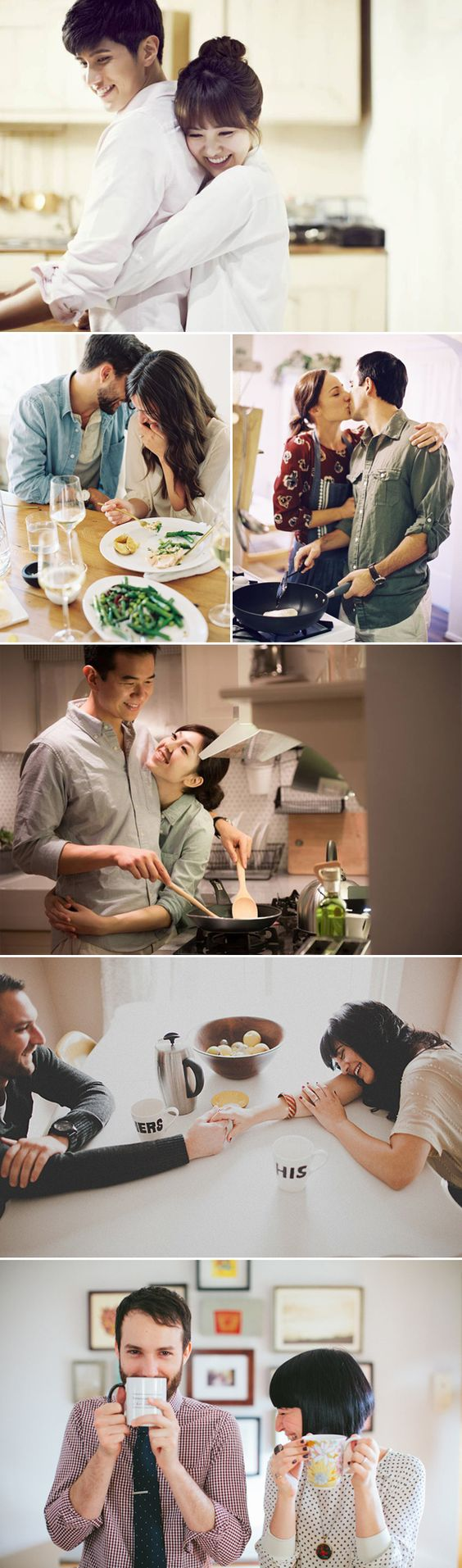 32 Sweet Home Engagement Photo Ideas for Couples - Cooking & Dining!: