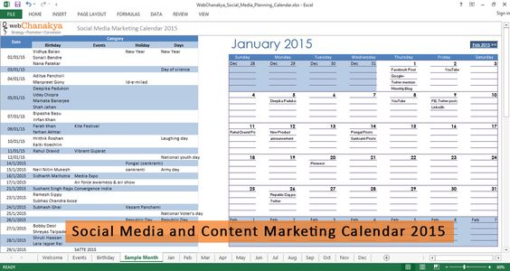 Social Media Marketing Strategies for Hospital and Healthcare - what is a marketing calendar