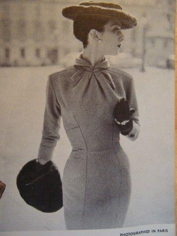 Reserved Vogue Paris Original Jaques Fath 1323 by garmentdistrict
