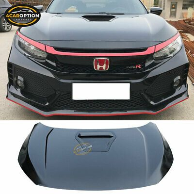 Ad Ebay Link Fits 16 20 Honda Civic 10th Gen Type R Style Front Hood Steel Black In 2020 Honda Civic Civic Honda